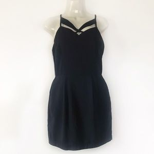 New Line & Dot Dress Cut Out Navy Bevello Cocktail